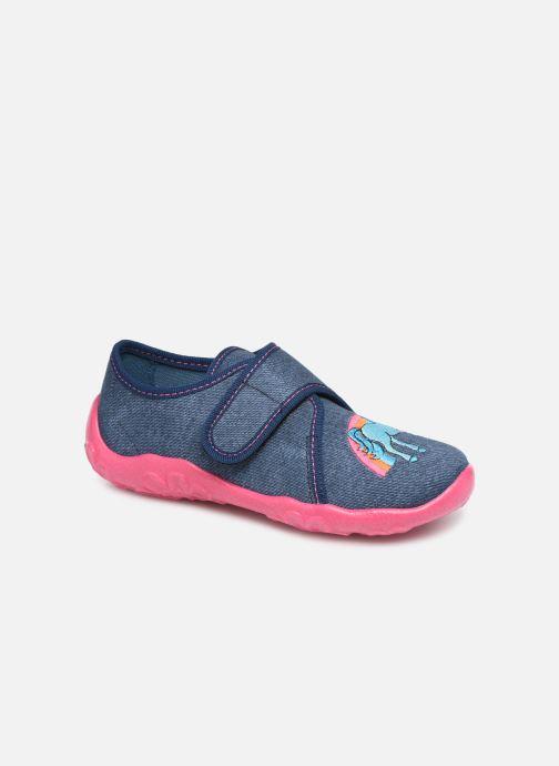 Hjemmesko Superfit Bonny Blå detaljeret billede af skoene