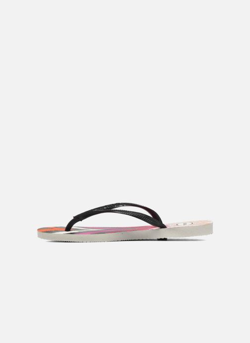 Chanclas Havaianas Slim Tribal Blanco vista de frente