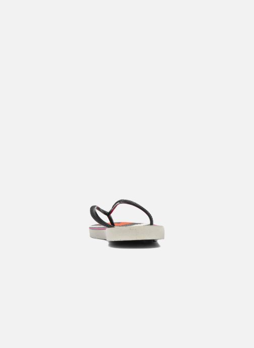 Chanclas Havaianas Slim Tribal Blanco vista lateral derecha