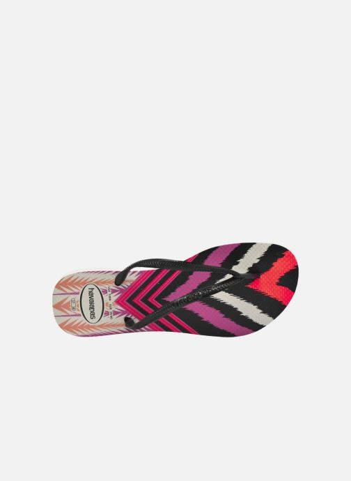 Chanclas Havaianas Slim Tribal Blanco vista lateral izquierda