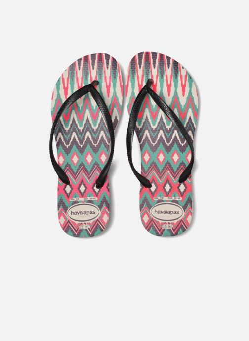 Tongs Havaianas Slim Tribal Blanc vue 3/4