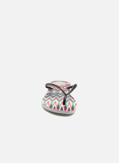 Tongs Havaianas Slim Tribal Blanc vue portées chaussures