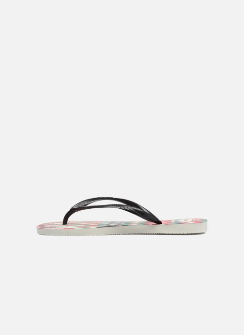 Flip flops Havaianas Slim Tribal White front view