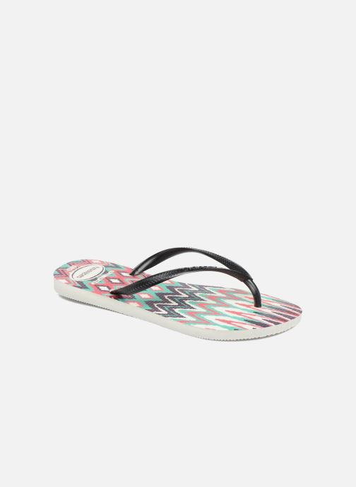 Tongs Havaianas Slim Tribal Blanc vue détail/paire