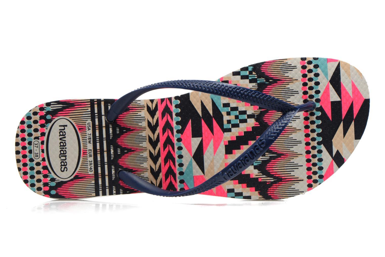 Tongs Havaianas Slim Tribal Multicolore vue gauche