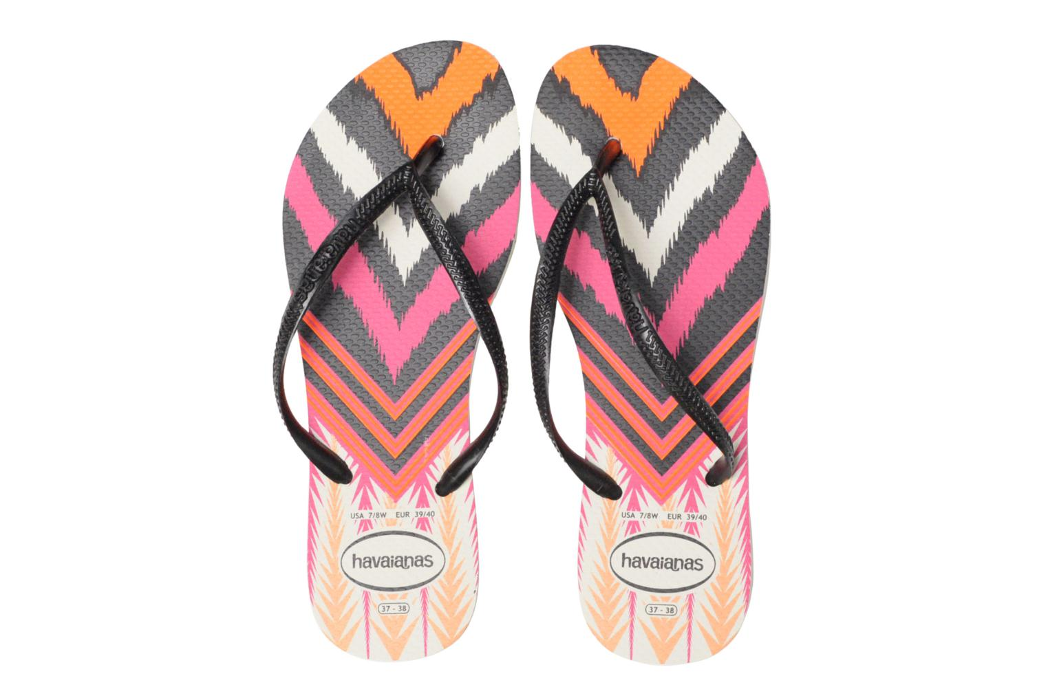 Chanclas Havaianas Slim Tribal Blanco vista 3/4