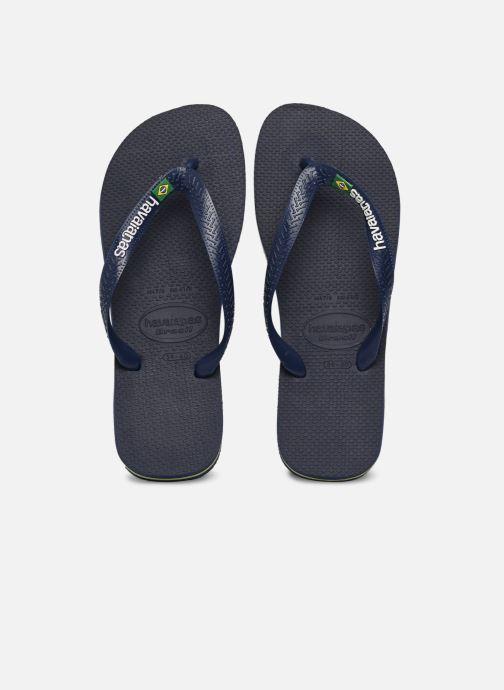 Flip flops & klipklapper Havaianas Brasil Logo HH Blå detaljeret billede af skoene