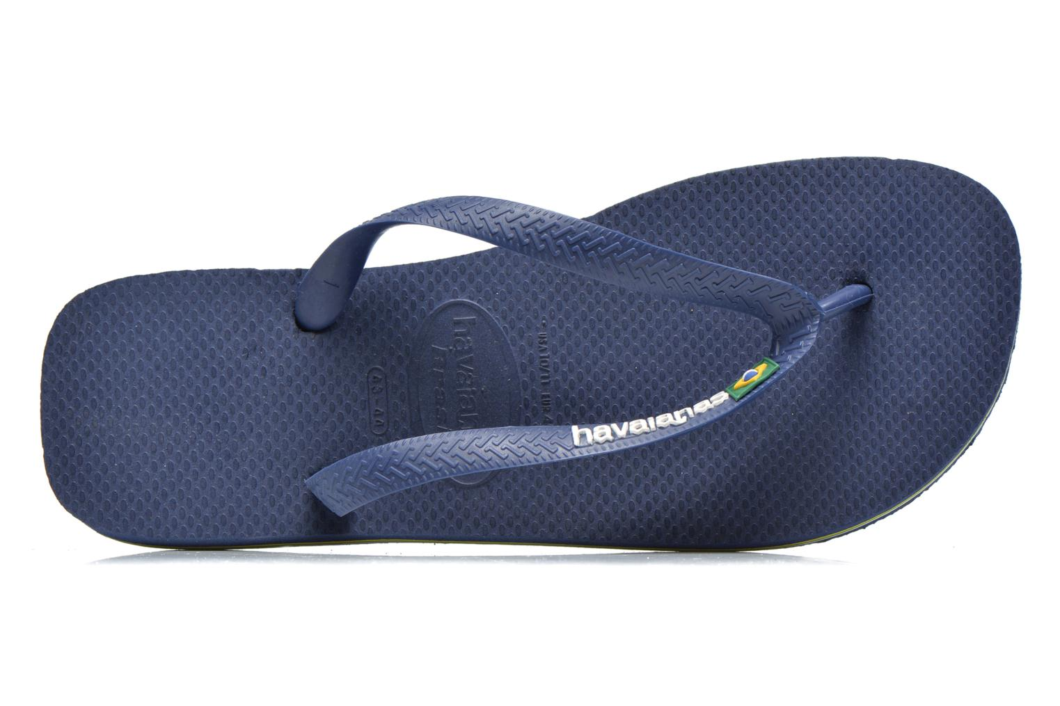 Flip flops Havaianas Brasil Logo HH Blue view from the left