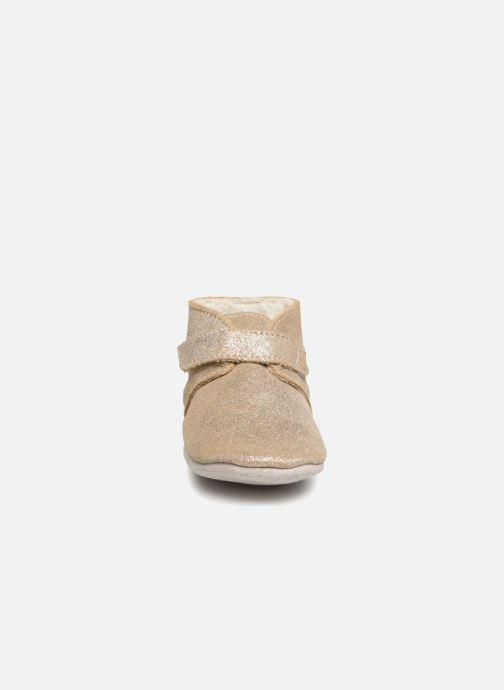 Chaussons Robeez Pole Nord Or et bronze vue portées chaussures