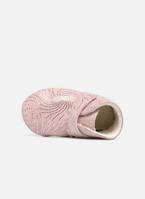 Chaussons Robeez Pole Nord Rose vue gauche