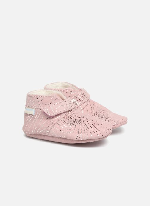 Slippers Robeez Pole Nord Pink detailed view/ Pair view