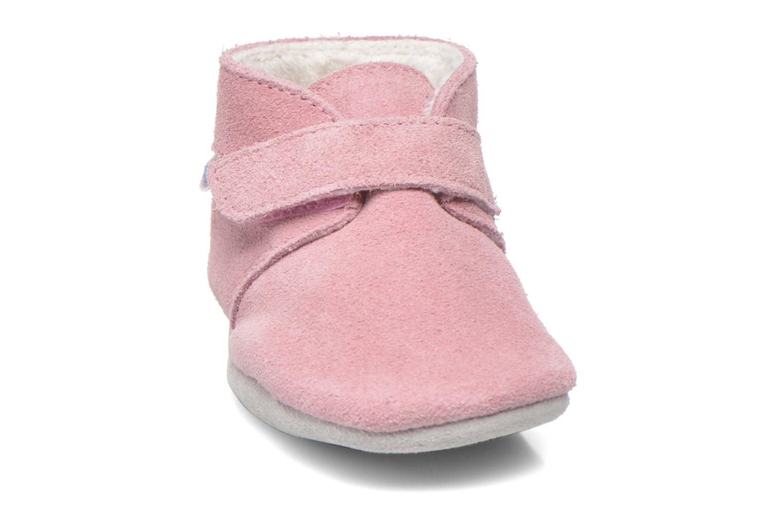 Chaussons Robeez Pole Nord Rose vue portées chaussures