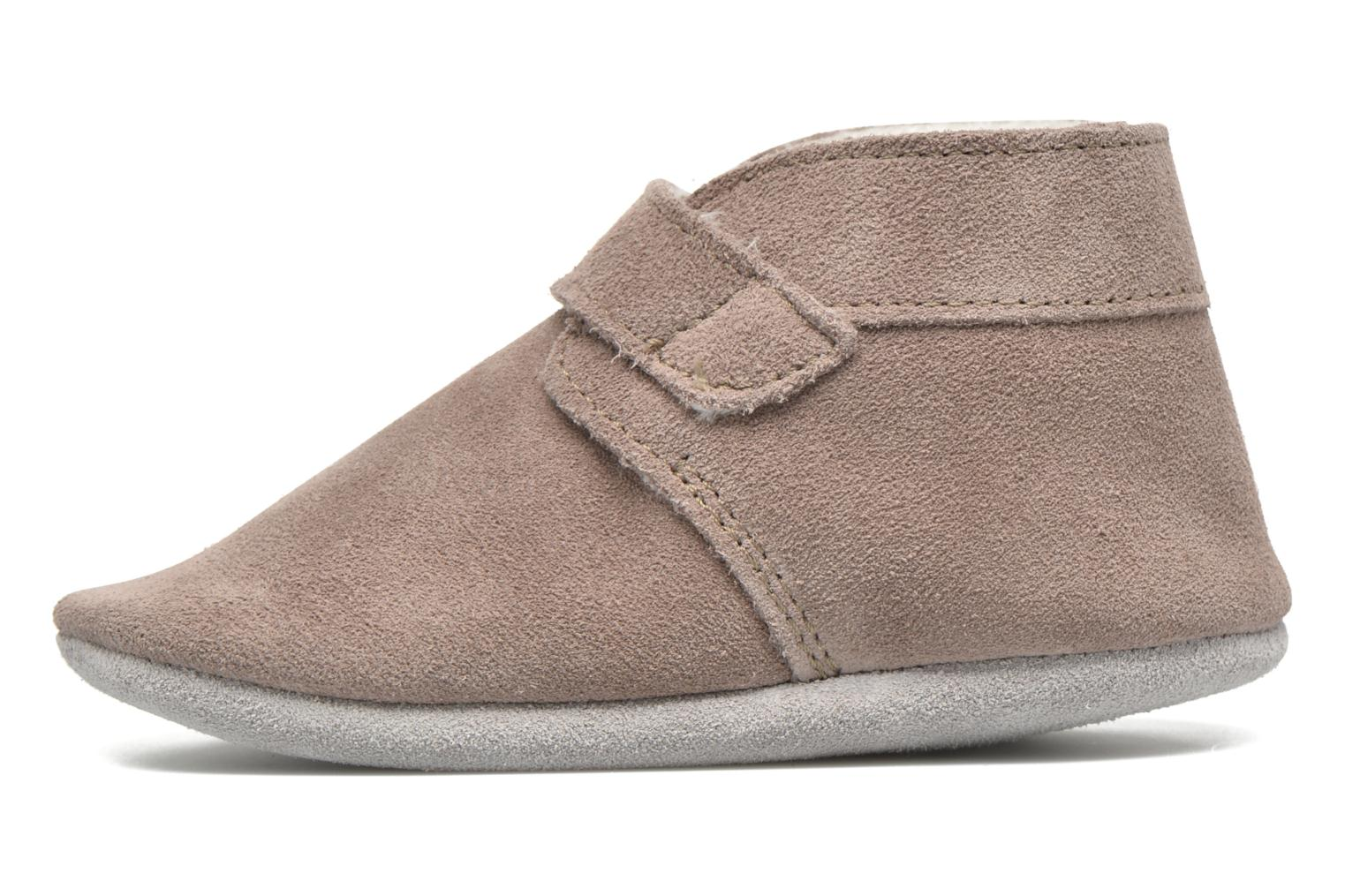 Chaussons Robeez Pole Nord Beige vue face