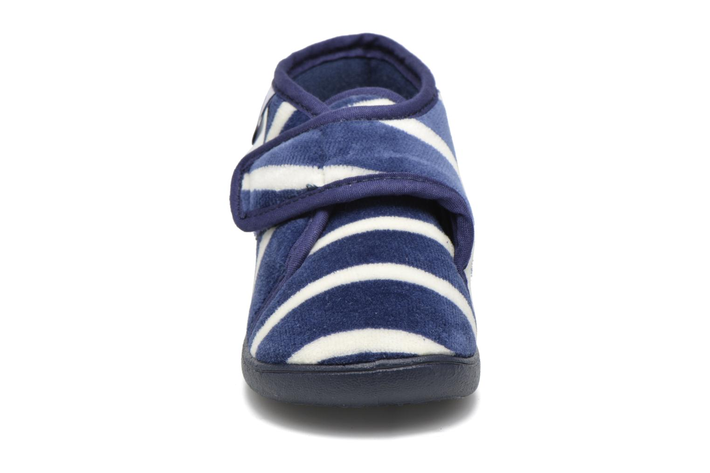 Chaussons Petit bateau PB Medievalo Bleu vue portées chaussures
