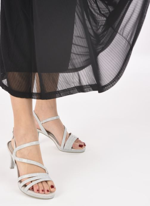 Sandalen Marco Tozzi Flora silber ansicht von unten / tasche getragen
