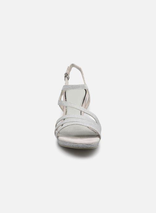 Sandalen Marco Tozzi Flora silber schuhe getragen
