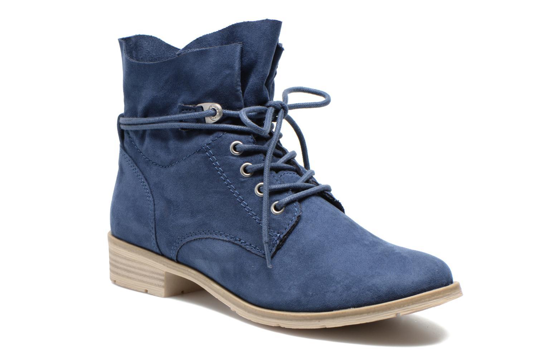 Bottines et boots Marco Tozzi Flora Bleu vue détail/paire
