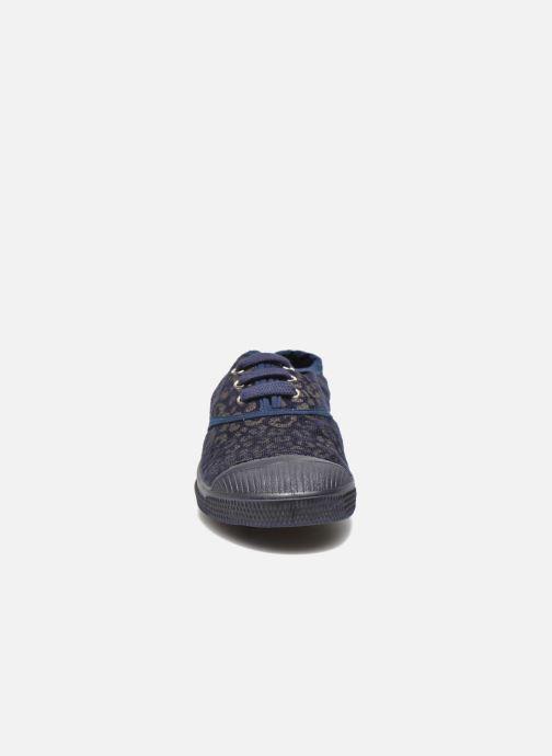 Sneakers Bensimon Tennis Gold Leopard E Azzurro modello indossato