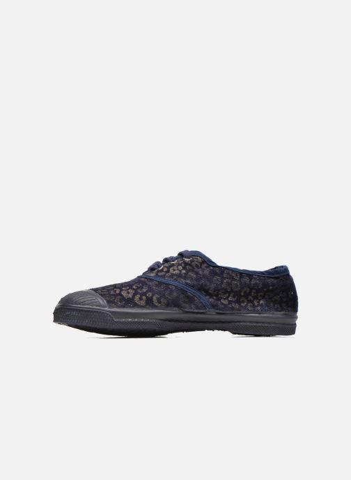 Sneakers Bensimon Tennis Gold Leopard E Azzurro immagine frontale