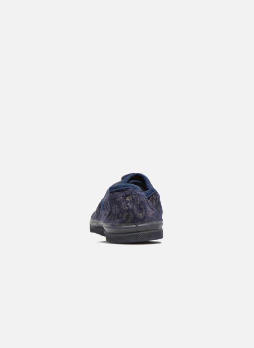 Sneakers Bensimon Tennis Gold Leopard E Azzurro immagine destra