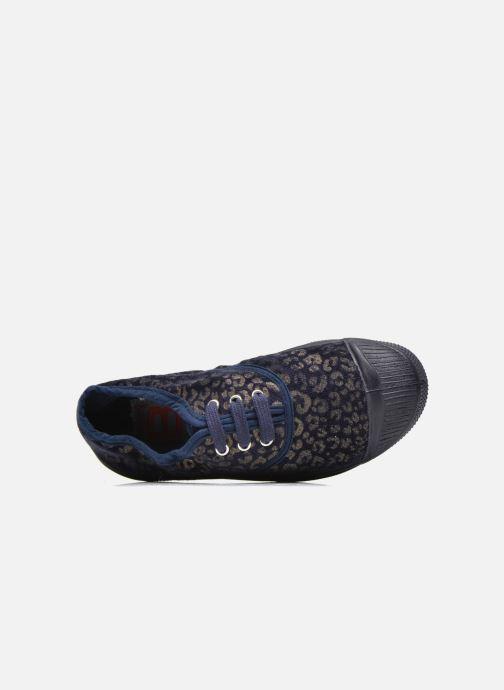 Sneakers Bensimon Tennis Gold Leopard E Azzurro immagine sinistra