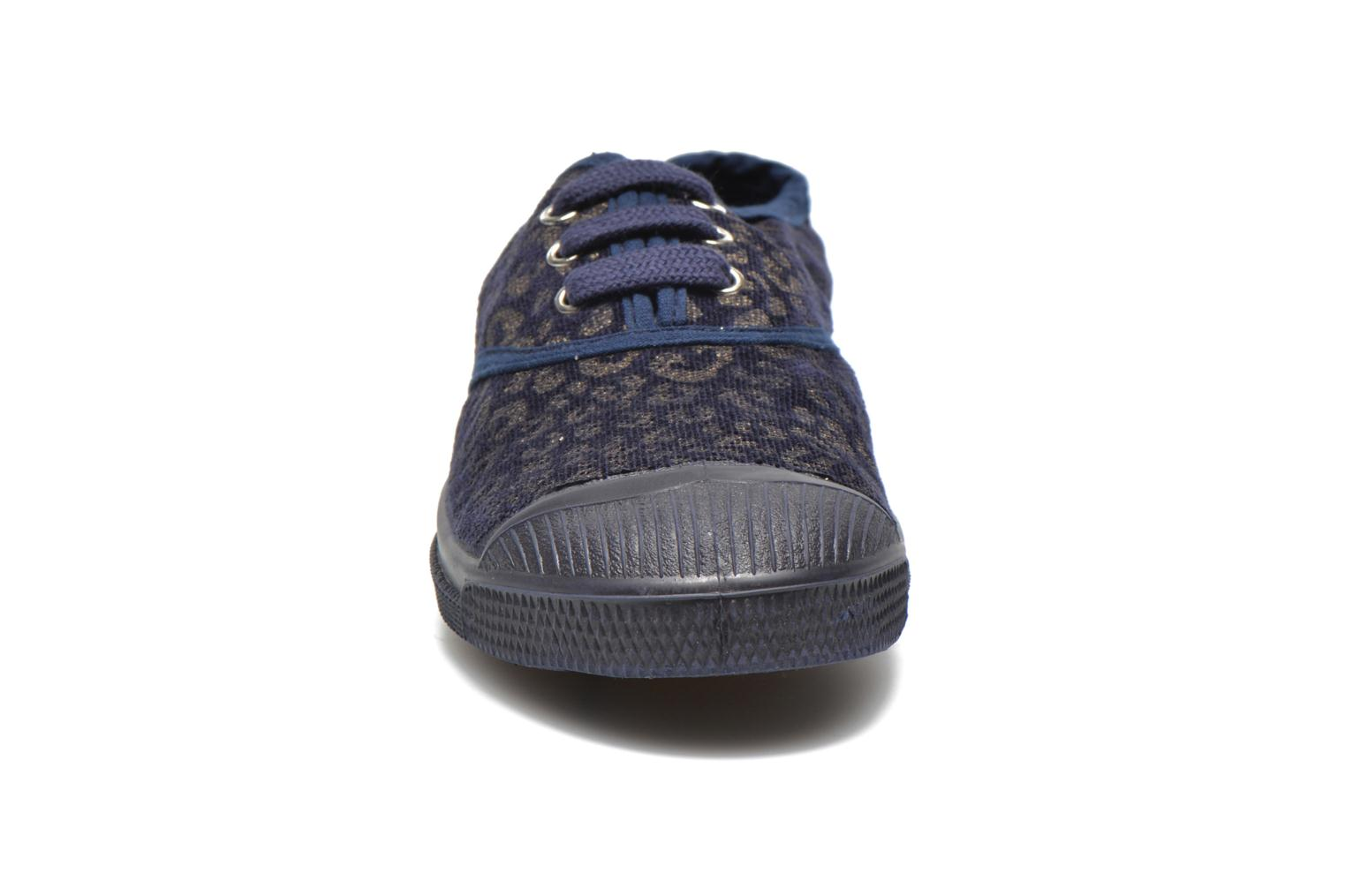 Trainers Bensimon Tennis Gold Leopard E Blue model view