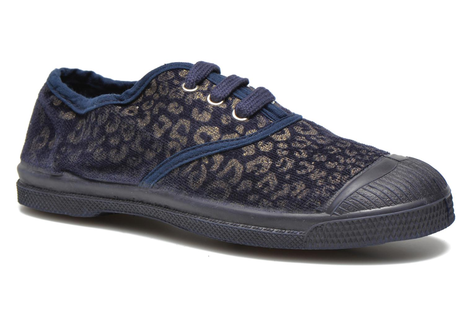 Trainers Bensimon Tennis Gold Leopard E Blue detailed view/ Pair view