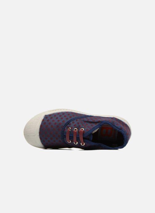 Sneaker Bensimon Tennis Pois Jacquard E blau ansicht von links