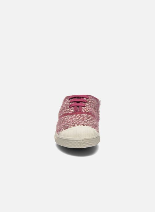 Trainers Bensimon Tennis Girly Tweed E Pink model view
