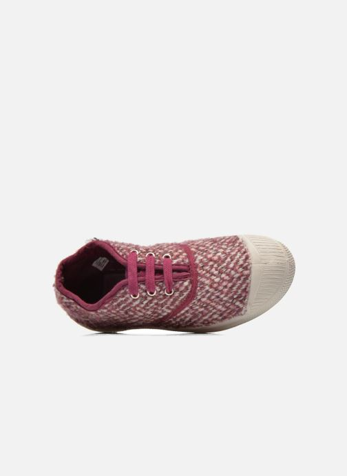 Trainers Bensimon Tennis Girly Tweed E Pink view from the left