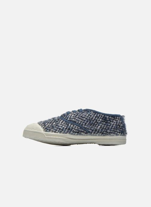 Sneakers Bensimon Tennis Girly Tweed E Blauw voorkant