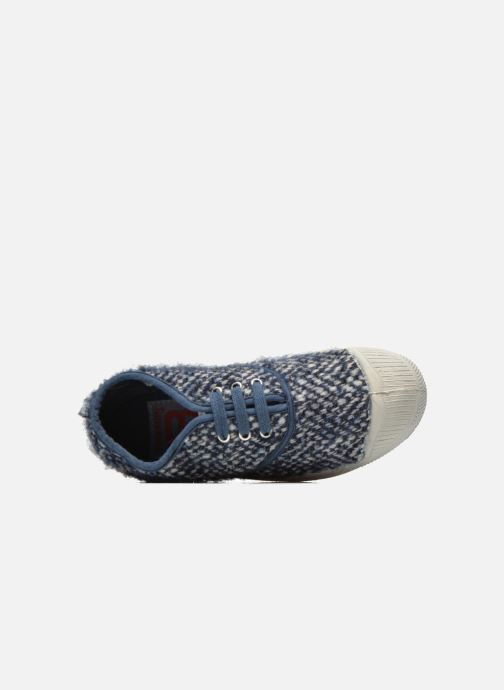 Trainers Bensimon Tennis Girly Tweed E Blue view from the left