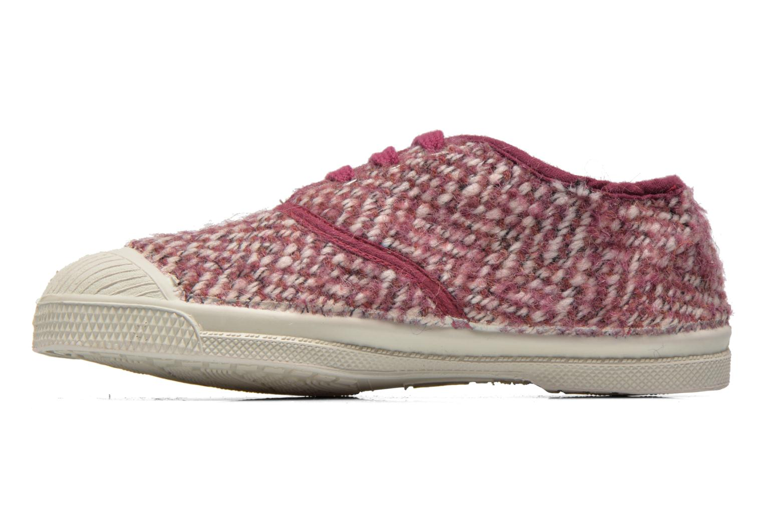 Baskets Bensimon Tennis Girly Tweed E Rose vue face
