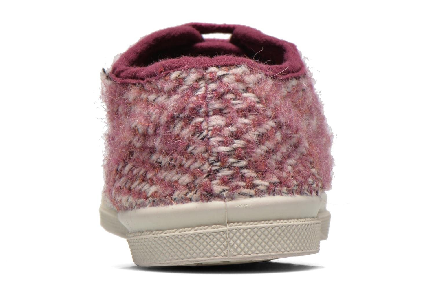 Baskets Bensimon Tennis Girly Tweed E Rose vue droite