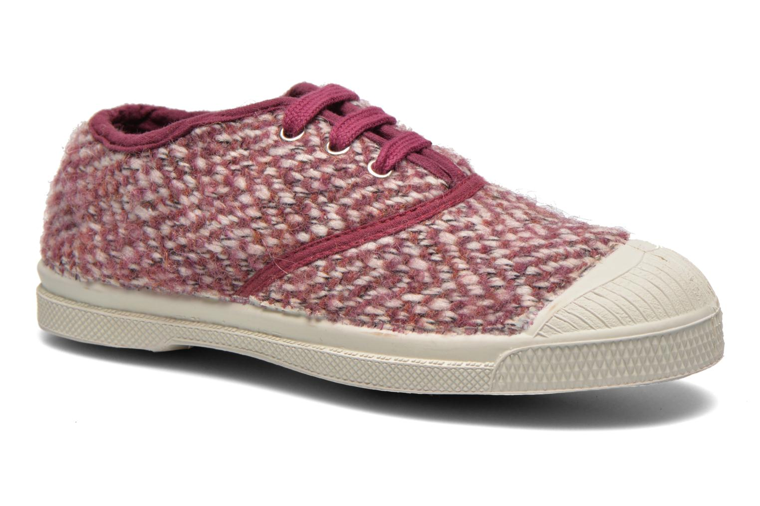 Baskets Bensimon Tennis Girly Tweed E Rose vue détail/paire
