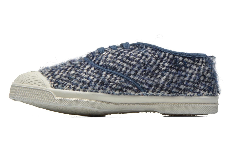 Baskets Bensimon Tennis Girly Tweed E Bleu vue face