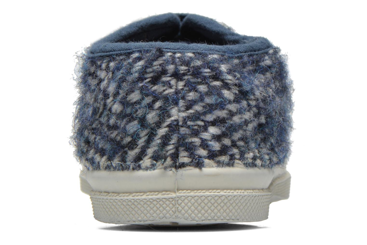 Trainers Bensimon Tennis Girly Tweed E Blue view from the right