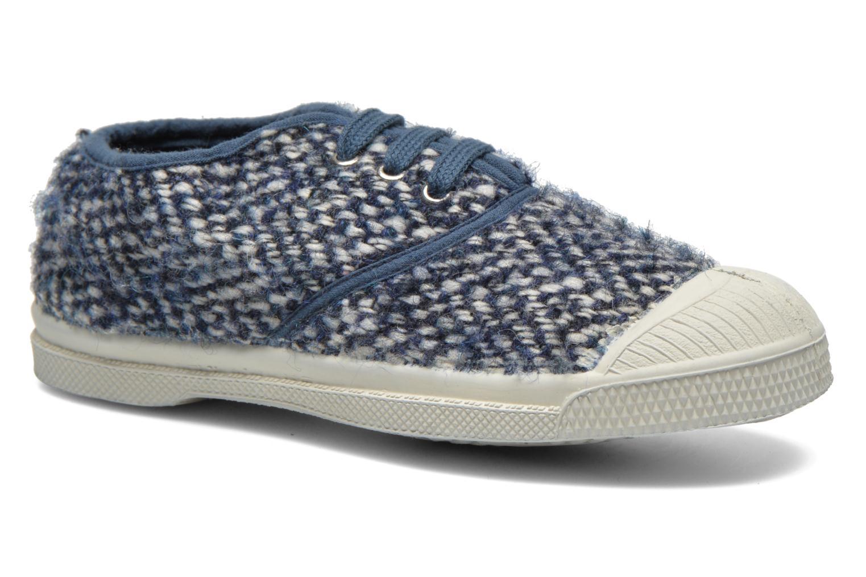 Baskets Bensimon Tennis Girly Tweed E Bleu vue détail/paire