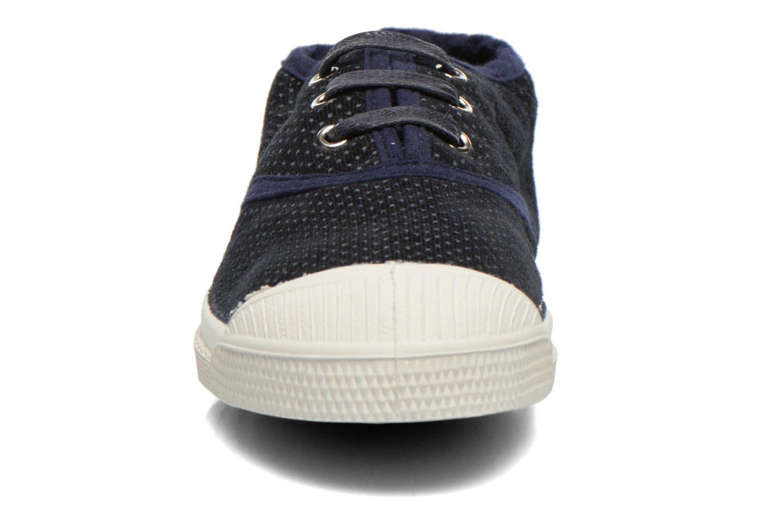Baskets Bensimon Tennis Velvet Dots Bleu vue portées chaussures