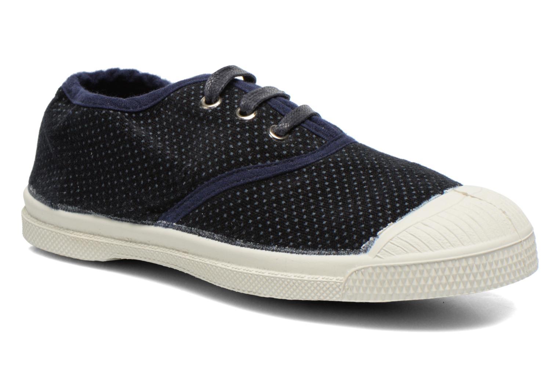 Baskets Bensimon Tennis Velvet Dots Bleu vue détail/paire
