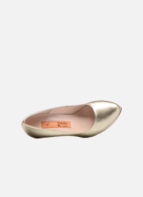 Zapatos de tacón Anna Volodia Copla Oro y bronce vista lateral izquierda