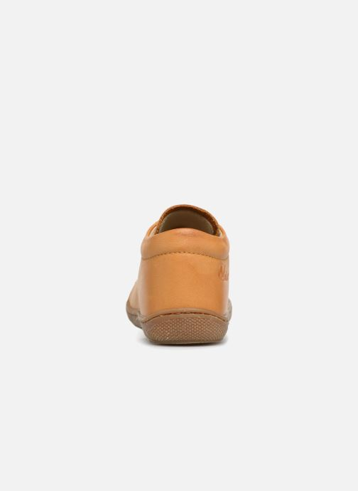 Zapatos con cordones Naturino Cocoon Amarillo vista lateral derecha