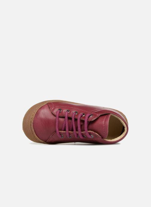 Zapatos con cordones Naturino Cocoon Rosa vista lateral izquierda