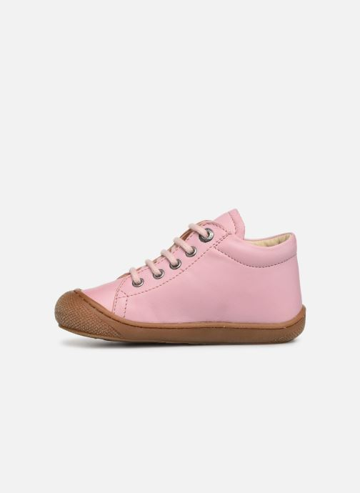 Snøresko Naturino Cocoon Pink se forfra