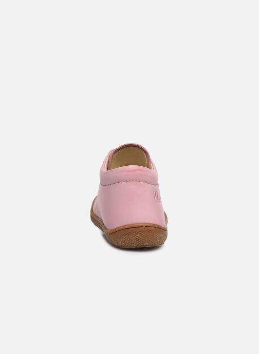 Snøresko Naturino Cocoon Pink Se fra højre
