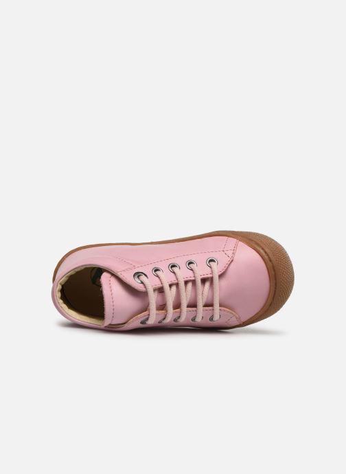 Snøresko Naturino Cocoon Pink se fra venstre