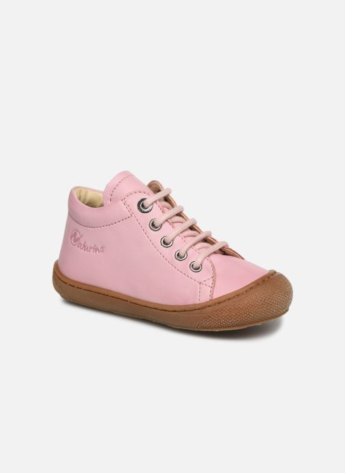 Lace-up shoes Naturino Cocoon Pink detailed view/ Pair view