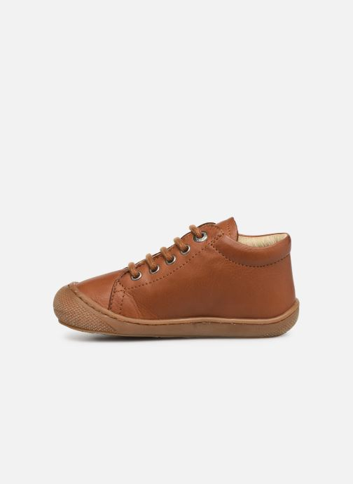 Lace-up shoes Naturino Cocoon Brown front view