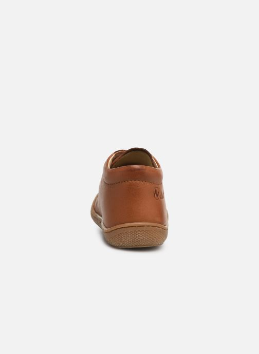 Lace-up shoes Naturino Cocoon Brown view from the right