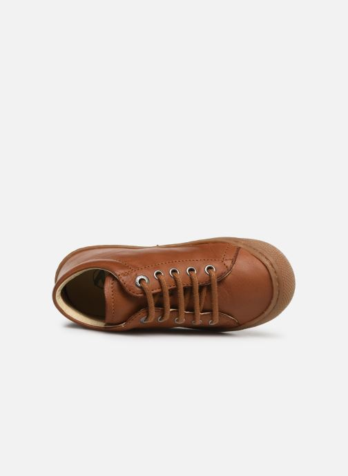 Lace-up shoes Naturino Cocoon Brown view from the left